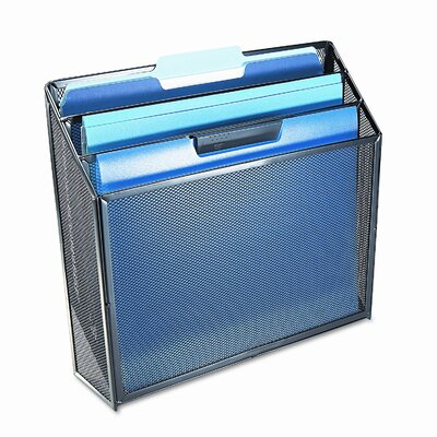 Rolodex Corporation Mesh Three-Tier Organizer, 12 3/4w x 3 1/2d x 11 1/2h, Black