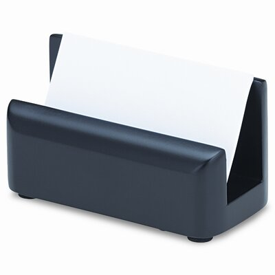 Rolodex Corporation Wood Tones Business Card Holder, Capacity 50 2-1/4 x 4 Cards, Black