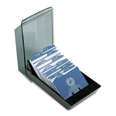 Rolodex Corporation Covered Tray Business Card File Holds