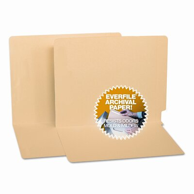 S&J PAPER Water/Cut-Resistant Folders, Straight Tab, 100/Box