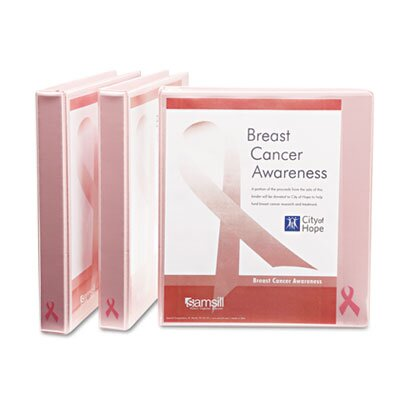 Samsill Corporation Breast Cancer Awareness View Binder, 1in Capacity