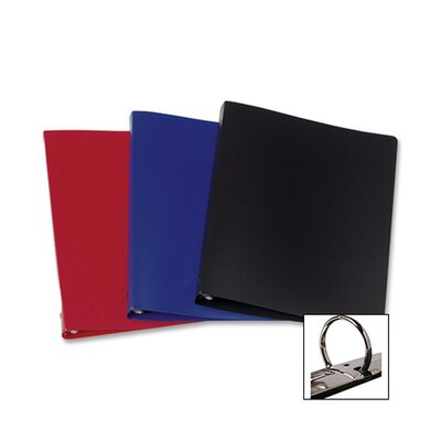 "Samsill Corporation 3-Ring Binder,28 Gauge Poly,1/2"" Capacity,11""x8-1/2"",Black"