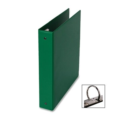 "Samsill Corporation 3-Ring Binder,w/Pckts,Vinyl,200 SH Cap.,1"",Green"