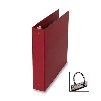 "Samsill Corporation 3-Ring Binder,w/Pckts,Vinyl,200 SH Cap.,1"",24/CT,Burgundy"
