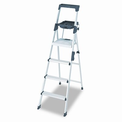 Cosco Six-Foot Lightweight Aluminum Folding Step Ladder with Leg Lock and Handle