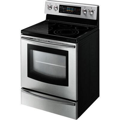 Samsung FE710DRS 5.9 cu. ft. Freestanding Flex Dual Oven with Radiant Electric Range - ...