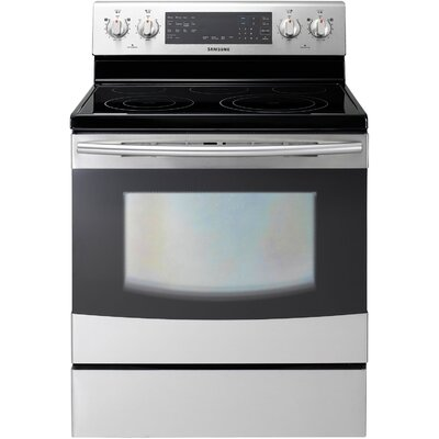 Samsung 5.9 Cu. Ft. 30 In. Freestanding Electric Flex Duo Oven with Induction/Radiant Ceramic ...
