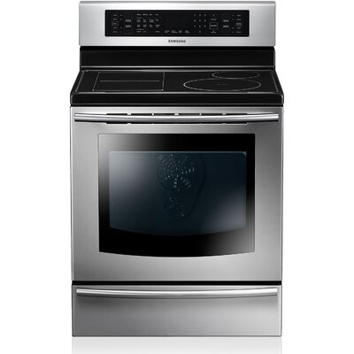 Samsung 5.9 Cu. Ft. 30 In. Freestanding Electric True Convection Oven with Full Induction ...