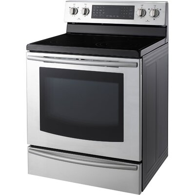5.9 Cu. Ft. 30 In. Freestanding Electric Range with Warming Drawer and Induction/Radiant ...