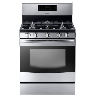 Samsung Gas Freestanding Range with 5 Burners, 5.8 Cu. Ft. Oven and Storage Drawer