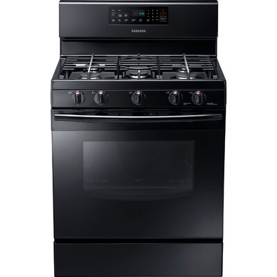 Samsung Gas Freestanding Range with Custom Griddle, 5.8 Cu. Ft. Oven and Storage Drawer