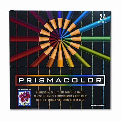 Sanford Ink Corporation Premier Colored Woodcase Pencils, 24 Assorted Colors/set