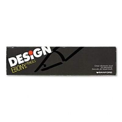 Sanford Ink Corporation Prismacolor Design Ebony Sketching Pencil, 12/Pack