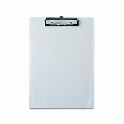 """Saunders Manufacturing Plastic Clipboard, 1/2"""" Capacity, Holds 8-1/2W X 12H"""