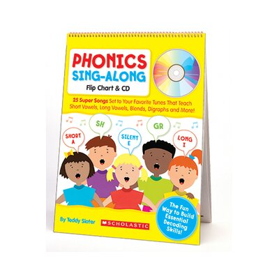 Scholastic Phonics Sing-along Flip Chart & Cd