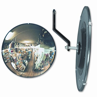 "See-All Industries 160 Degree Convex Security Mirror, 18"" Dia."