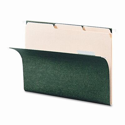 Smead Manufacturing Company Interior File Folders, 1/3 Cut Top Tab, 100/Box