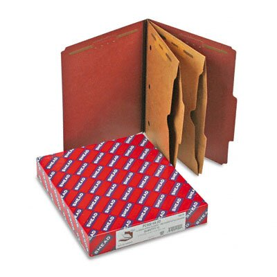 Smead Manufacturing Company Pressboard Folders with Two Pocket Dividers, Letter, 10/Box