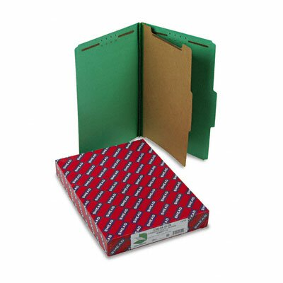Smead Manufacturing Company Pressboard Classification Folders, Legal, Four-Section, 10/Box