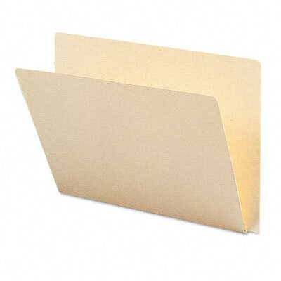 Smead Manufacturing Company Straight Cut Single-Ply Extended End Tab Folders, Letter, 100/Box