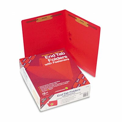 Smead Manufacturing Company Straight Tab Two-Inch Capacity Fastener Folders, Letter, 50/Box