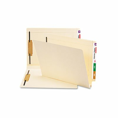 Smead Manufacturing Company Hvywt Folders, 2 Fasteners, W-fold Expansion, Straight End Tab, Ltr, MLA, 50/Box