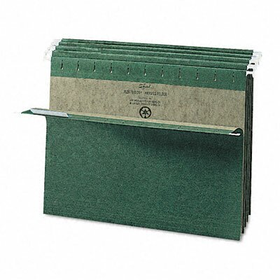Smead Manufacturing Company Untabbed 11 Point Stock Hanging File Folders, Letter, 25/Box