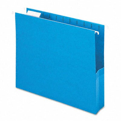 "Smead Manufacturing Company 2"" Capacity Closed Side Flexible Hanging File Pockets, 25/Box"