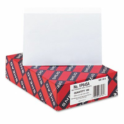 Smead Manufacturing Company Self-Adhesive Poly Pockets, Top Load, 6-1/4 X 4-9/16, 100/Box