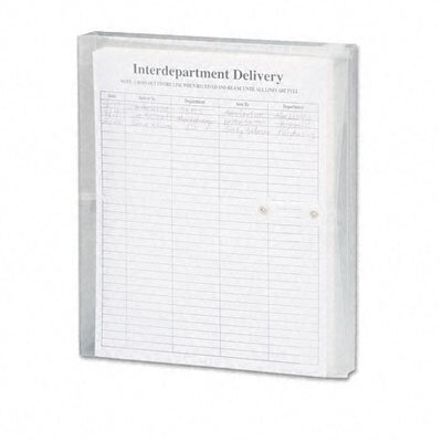 Smead Manufacturing Company Poly String & Button Booklet Envelope, 11 5/8 X 9 3/4 X 1 1/4, 5/Pack