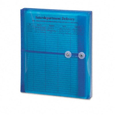 Smead Manufacturing Company Poly String & Button Booklet Envelope, 9 3/4 X 11 5/8 X 1 1/4, 5/Pack