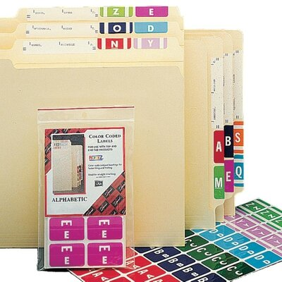 Smead Manufacturing Company Alpha-Z Color-Coded Second Letter Labels, Letter A, 100/Pack, Letter M, Light Green