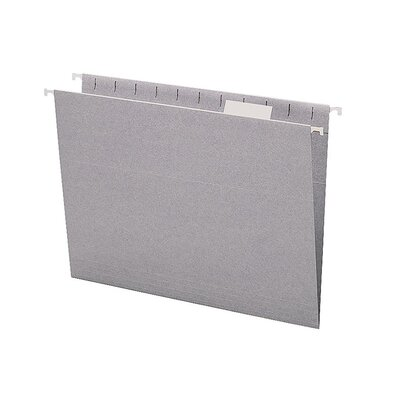 Smead Manufacturing Company Colored Hanging Folders, 1/5 Tab Cut, Letter Size, Gray