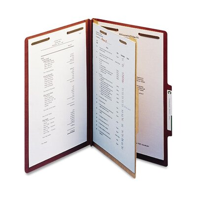 "Smead Manufacturing Company Folders, Legal, 1 Partition, 2"" Expansion, Legal, Red"