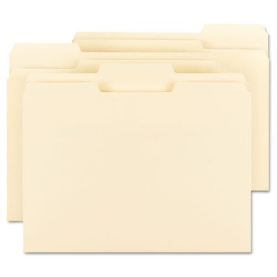 Smead Manufacturing Company Recycled 1/3 Top Tab File Folders, 11 Point Manila, 1/3, Letter, Beige, 100/Box