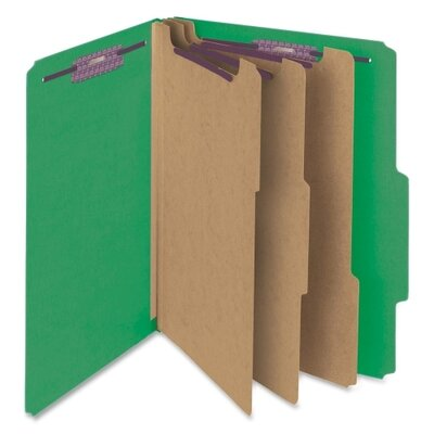 "Smead Manufacturing Company 3"" Expansion Folders with 2/5 Cut Tab, 10/Box"