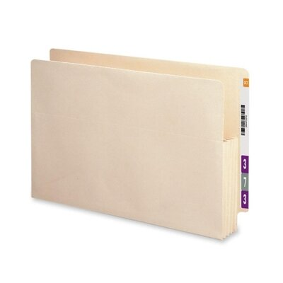 "Smead Manufacturing Company 3.5"" Accordion Expansion Straight Tab File Pockets with Tyvek, 10/Box"