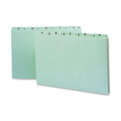 Smead Manufacturing Company Recycled Top Tab File Guides, Alpha, 1/5 Tab, Pressboard, Legal, 25/Set