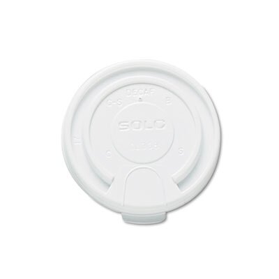 Solo Cups Company Liftback & Lock Tab Cup Lids For Foam Cups, 16 Oz, 1000/Carton