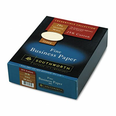 Southworth Company Credentials Collection Fine Business Paper, Ivory, 24lb, Letter, 500 Sheets                                                  