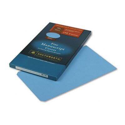 Southworth Company Credentials Collection Manuscript Cover, 30lb Stock, 9 x 15-1/2, Blue, 100/Box