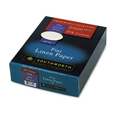 Southworth Company 25% Cotton Linen Business Paper, 500/Box, Fsc