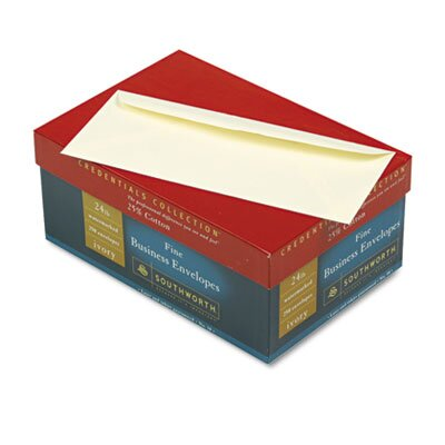 Southworth Company Credentials Collection Fine #10 Business Envelope, V-Flap, Ivory, 250/box