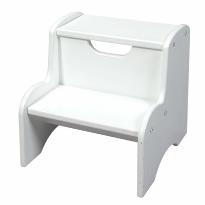 Gift Mark Two Step Stool in White