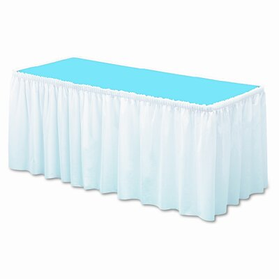 Tablemate Products Table Set Linen-Like Table Skirt