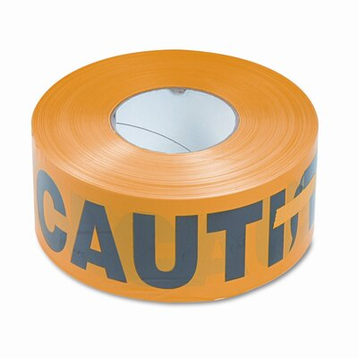 Tatco Caution Barricade Safety Tape, Yellow, 3w x1,000 ft. Roll