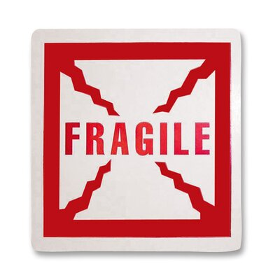 Tatco Shipping Label, Fragile, 500 per Roll, Red