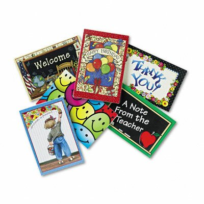 Teacher Created Resources Postcard Pack with 30 Each of Six Designs, 180 Cards/Pack