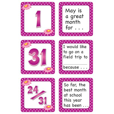 Teacher Created Resources May Polka Dots Calendar Days Story