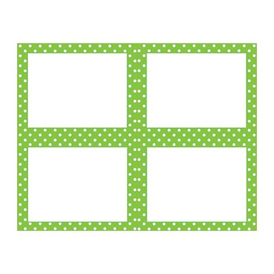 Teacher Created Resources Lime Polka Dots Name Tags